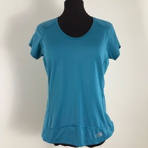 The North Face Vapor Wick Blue Shirt Size Large